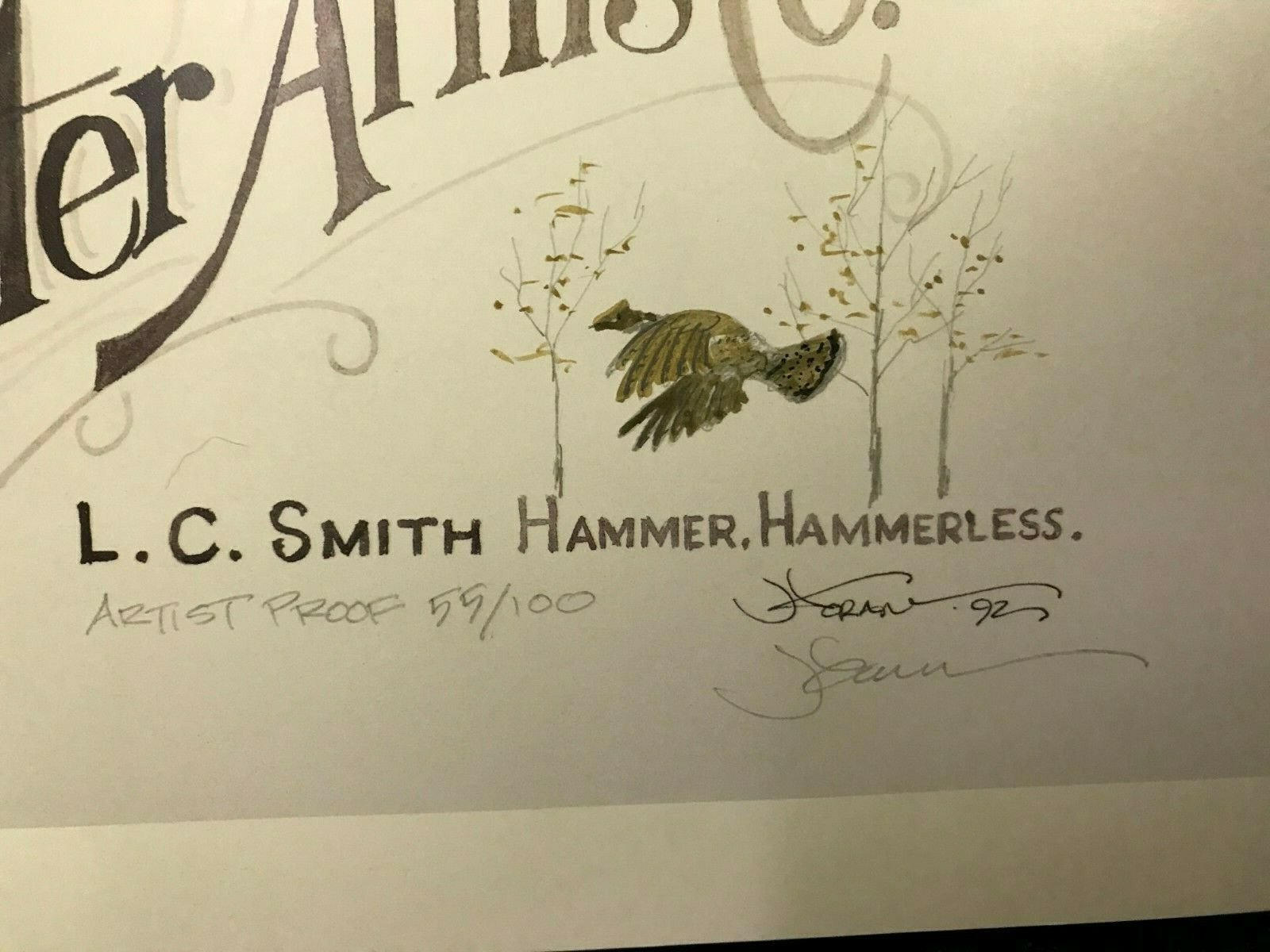 "Image for VINTAGE  L. C. SMITH  PRINT TITLED - ""HUNTER ARMS CO., L. C. SMITH HAMMER, HAMMERLESS"""