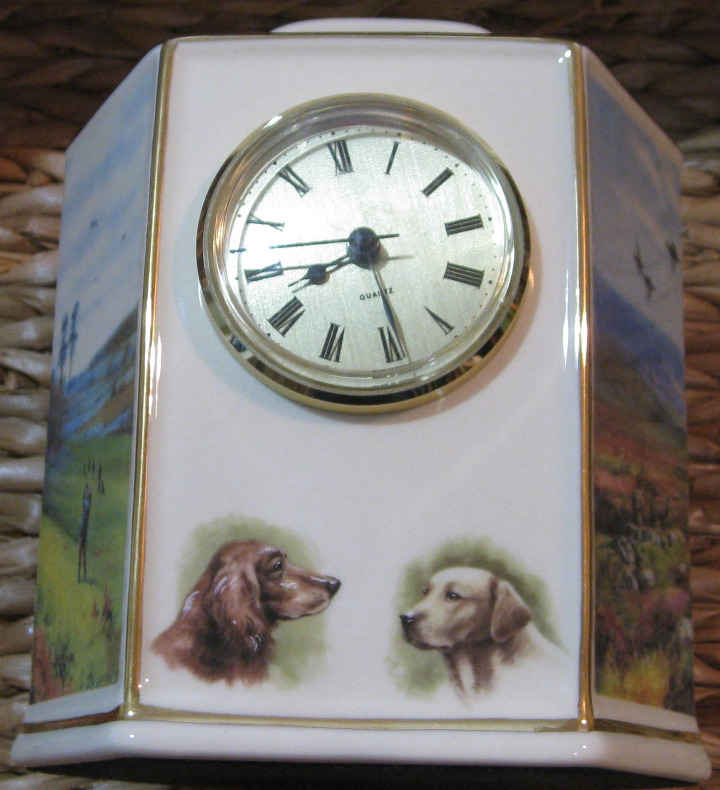 Image for GAME SHOOTING MANTEL CLOCK -